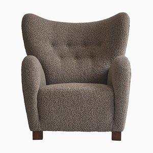 Scandinavian Boucle Easy Chair by Flemming Lassen, 1940s, Dermark
