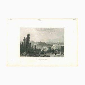 Verschiedene Künstler, Antike Ansicht von Konstantinopel, Mitte 19. Jh., Original Lithographie