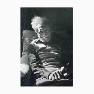 Desconocido, retrato de Ezra Pound, años 70, fotografía vintage en blanco y negro