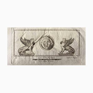 Various Artists, Sphinxes From Ancient Rome, 1750s, Original Etching