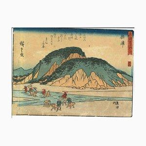Utagawa Hiroshige, Okitsu 53 Estaciones del Tokaido-Woodcut, 1833/34
