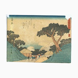 Utagawa Hiroshige, Kambara 53 Stationen des Tokaido-Holzschnittes, 1842