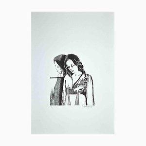 Enrico Borghi, The Woman, 1973, Litografía original