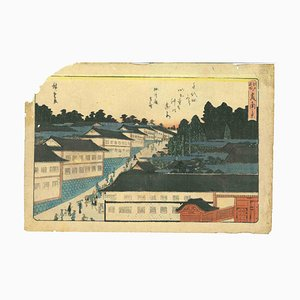 Xilografía de Utagawa Hiroshige, Kasumigaseki Nokei, 1840