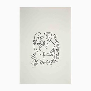 Eugenio Comencini, The Couple, 1970er, Original Lithographie