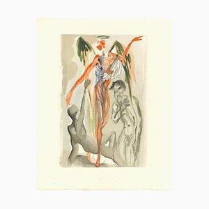 Salvador Dalí, Hacia el árbol de la ley, 1963, Xilografía original