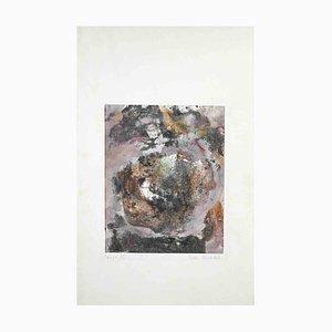 Peter Dischlet, Composición abstracta, 1973, Acuarela original