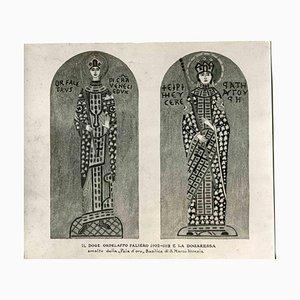 Osvaldo Böhm, Basílica de San Marcos, fotografía vintage en blanco y negro, principios del siglo XX