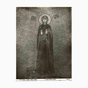 Osvaldo Böhm, The Virgin, Murano, fotografía vintage en blanco y negro, principios del siglo XX