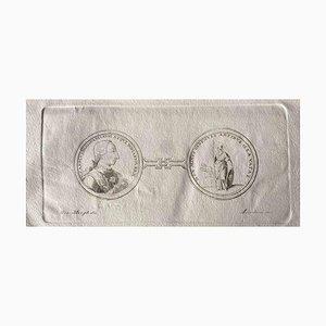 Verschiedene Künstler, Rahmen aus dem antiken Rom, 1750er, Original Radierung