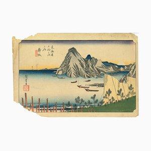 Utagawa Hiroshige, Maisaka: Vista de Imagiri, Xilografía