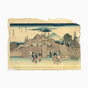 Utagawa Hiroshige, Shimabara, 1836, Holzschnitt