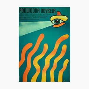Jerzy Flisak, polnisches Poster von Underwater Odyssey, Offset, 1970er