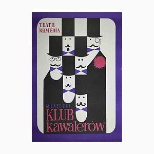 Unbekanntes, polnisches Plakat von Klub Kawalerow, Offset, 1970er