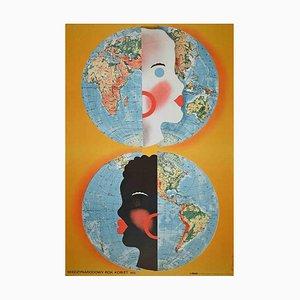 Unbekanntes, polnisches Plakat des International Year of Women, Offset, 1970er