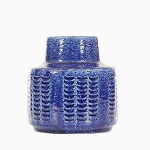 Blaue Vase von Per und Annelise Linnemann-Schmidt für Palshus, 1960er
