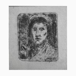 Albert Lepreux, Porträt nach David, frühes 20. Jh., Original Radierung