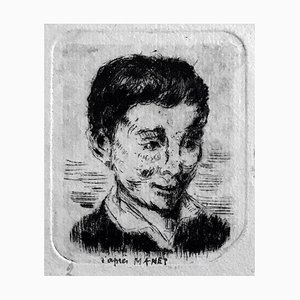 Albert Lepreux, The Portrait, Early 20th Century, Original Etching