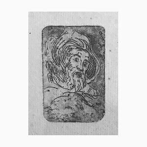 Albert Lepreux, The Portrait, Mitte des 20. Jahrhunderts, Original Radierung