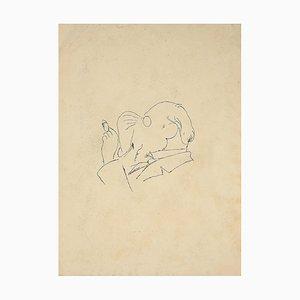 Desconocido, The Man with Cigarette, China Ink, principios del siglo XX