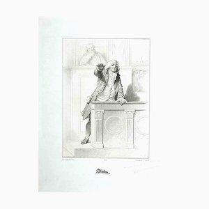 Henriquel Dupont, The Court, 1847, Litografía original