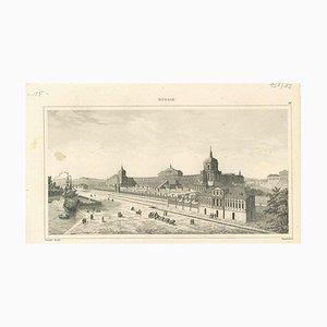 Varios artistas, Vista antigua de Oranienbaum, principios del siglo XIX, litografía original