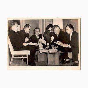 Desconocido, científicos soviéticos en los años 60, fotografía vintage en blanco y negro