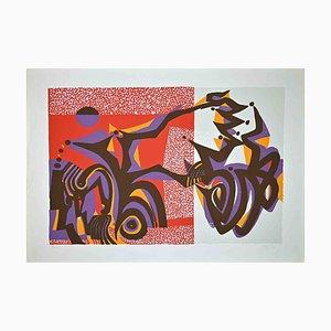 Wladimiro Tulli, Abstract Composition, 1970s, Original Screen Print