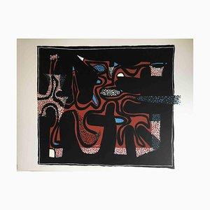 Wladimiro Tulli, Abstrakte Komposition, 1970er, Original Siebdruck