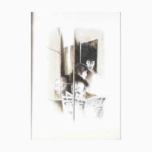 Giovanni Cappelli, An der Bar, 1970er, Original Lithographie