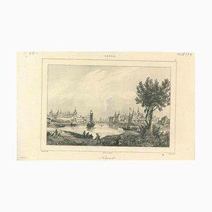 Verschiedene Künstler, Antike Ansicht von Novgorod, Frühes 19. Jh., Original Lithographie