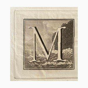 Letra mayúscula de la antigua Roma, década de 1750, varios artistas