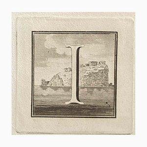Verschiedene Künstler, Großbuchstabe aus dem antiken Rom, 1750er, Original Radierung