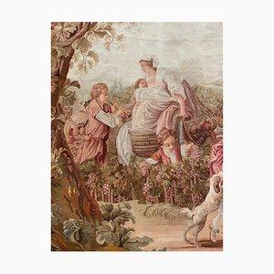 19th Century Tapestry of Harvest Scene