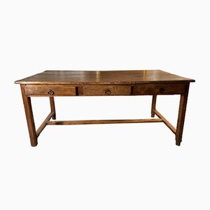 Antique French Provincial Elm Farmhouse Table