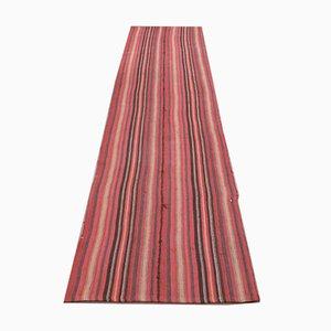 Striped Vintage Turkish Handmade Wool Rug