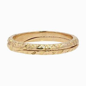 French 19th Century 18 Karat Yellow Gold Double Ring