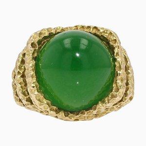 Ring aus 18 Karat Chrysopras und 18 Karat Gelbgold
