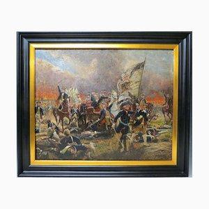 Escena de batalla, 1924, óleo sobre lienzo