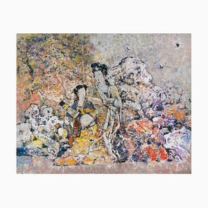 Diao Qing-Chun, Chinese Contemporary Art, Painting of the Serving Girl Nr.3 2021