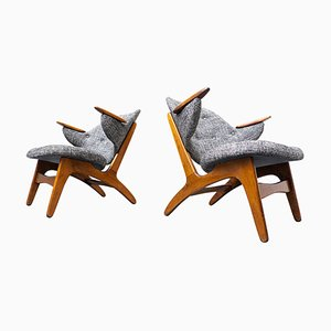 Model 33 Lounge Chairs by Carl Edward Matthes, Denmark, 1950s, Set of 2