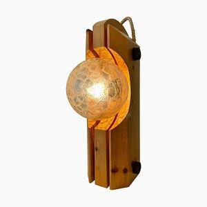 Hölzerne Tischlampe von Temde Leuchten, 1970er
