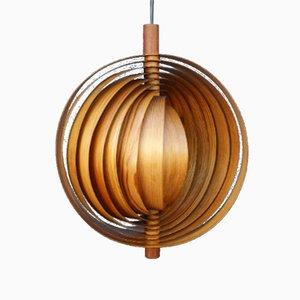 Swedish Slat Pendant Lamp in Wood