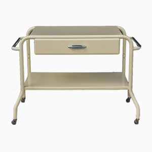 Bauhaus Sheet Metal and Steel Pipe Trolley with Drawer, 1950s