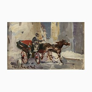 Gino Paolo Gori, Cocchiere, Watercolor Painting