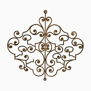 Vintage Attachment in Retracted Golden Wrought Iron