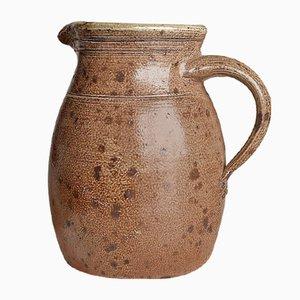 Jarrón o jarra Mid-Century de cerámica rústica, años 70