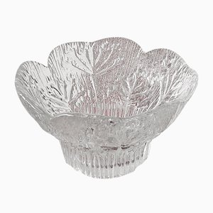 Mid-Century Cow Parsley Floriform Candleholder in Crystal Glass by Pertti Kallioinen for Dansk, 1970s