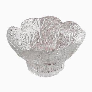 Mid-Century Kuh Petersilie Floriform Kerzenhalter aus Kristallglas von Pertti Kallioinen für Dansk, 1970er