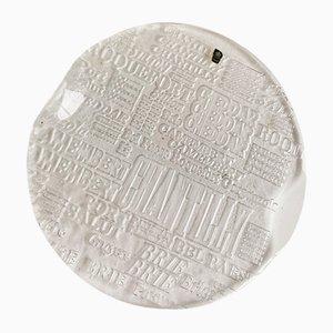 Fuente para servir queso Mid-Century de cristal de Bengt Edenfalk para Royal Krona